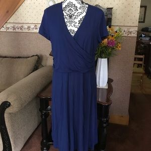 Lands End blue dress